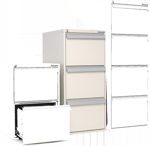 Classeur ignifuge papier 3 tiroirs SV 32