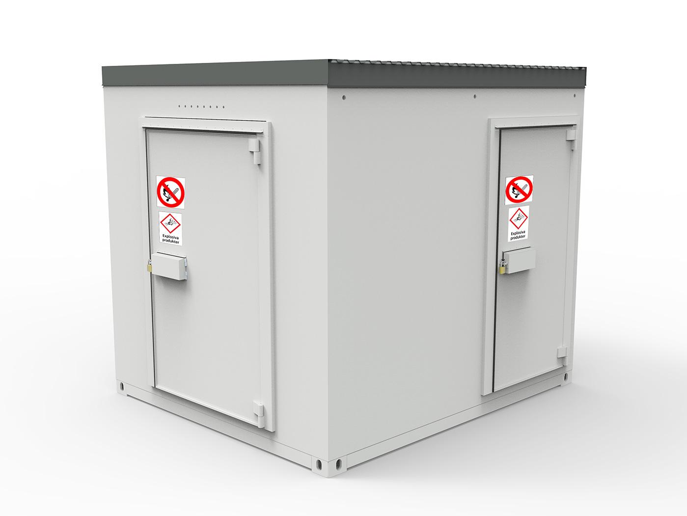 Conteneur sécurisé anti-effraction pour les chantiers