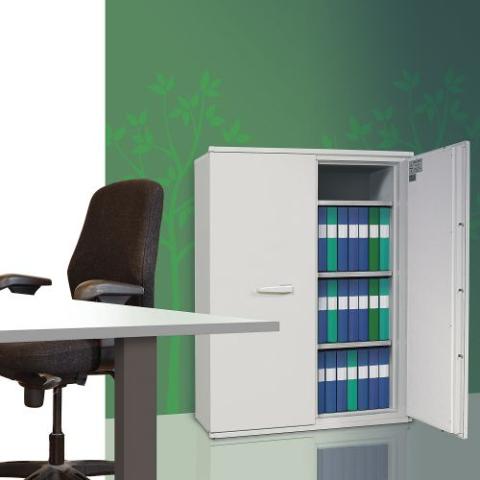 Armoire ignifuge papier basse avec 2 portes SA 390