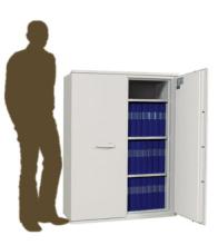 Armoire ignifuge papier bas deux portes pour la protection de documents papier en cas d'incendie.